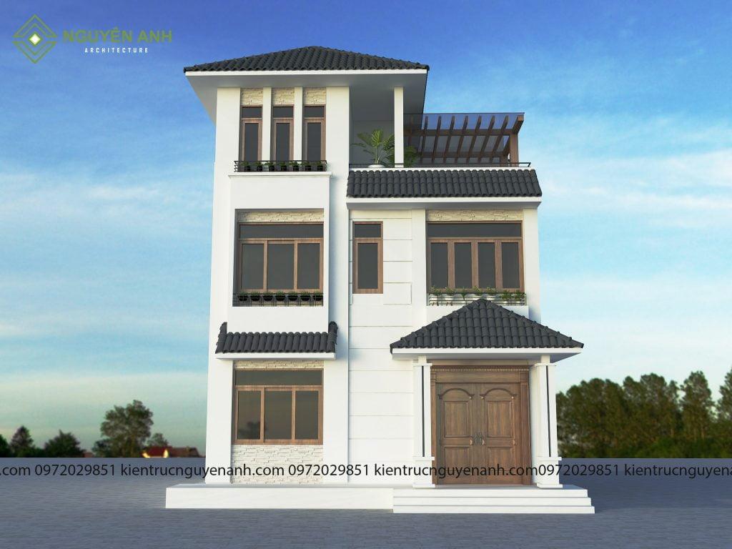 THIẾT KẾ NHÀ PHỐ TẠI HOÀI ĐỨC HÀ NỘI. phối cảnh thiết kế nhà phố tại hoài đức hà nội