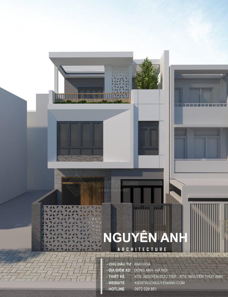 thiết kế nhà tại đông anh hà nội. kiến trúc nguyên anh