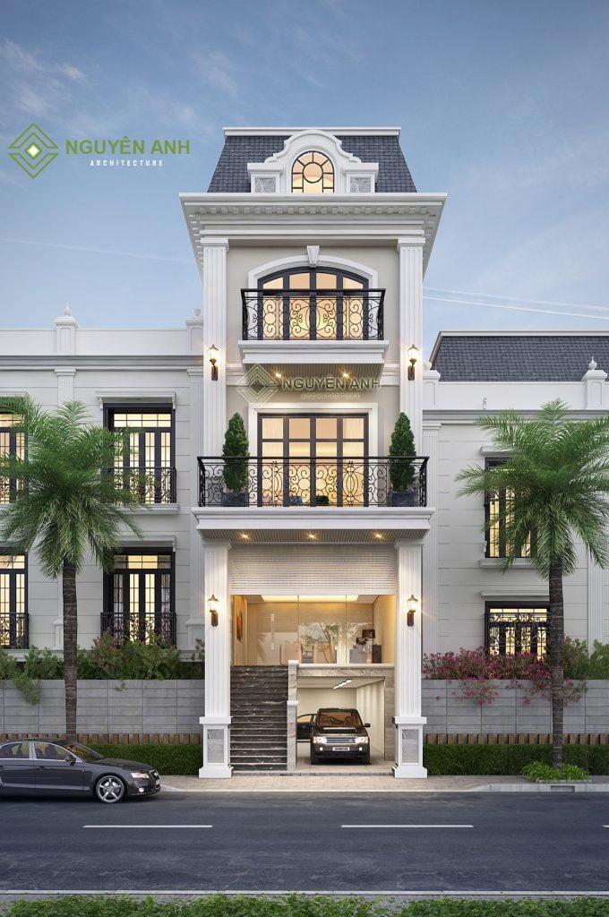 thiết kế nhà phố tân cổ điển tại hải phòng. THIẾT KẾ NHÀ PHỐ TÂN CỔ ĐIỂN CÓ ĐẮT KHÔNG?