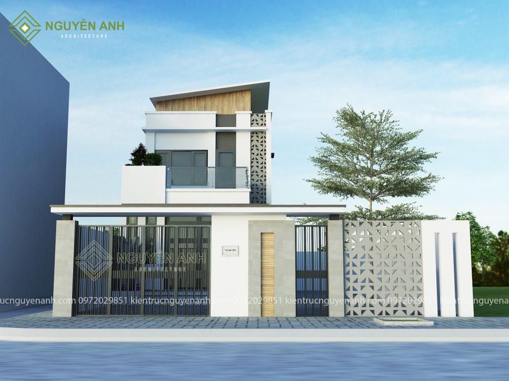 thiết kế nhà phố tại vĩnh phúc. phối cảnh thiết kế nhà tại vĩnh phúc