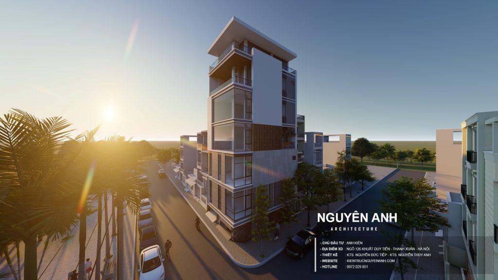 thiết kế nhà phố 7 tầng tại hà nội. kiến túc nguyên anh - thiết kế nhà giá rẻ