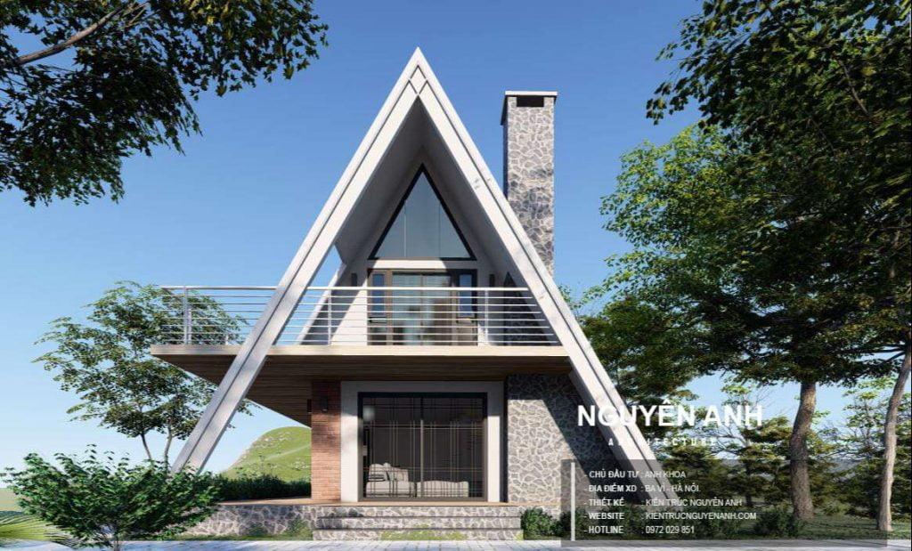 thiết kế nhà trên đồi ở ba vì hà nội, kiến trúc nguyên anh